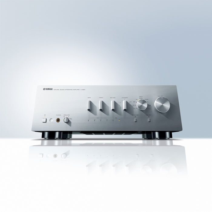 Yamaha A-S801S/2 ch integrated amplifier/silver/under front view/SONXPLUS BAX audio video
