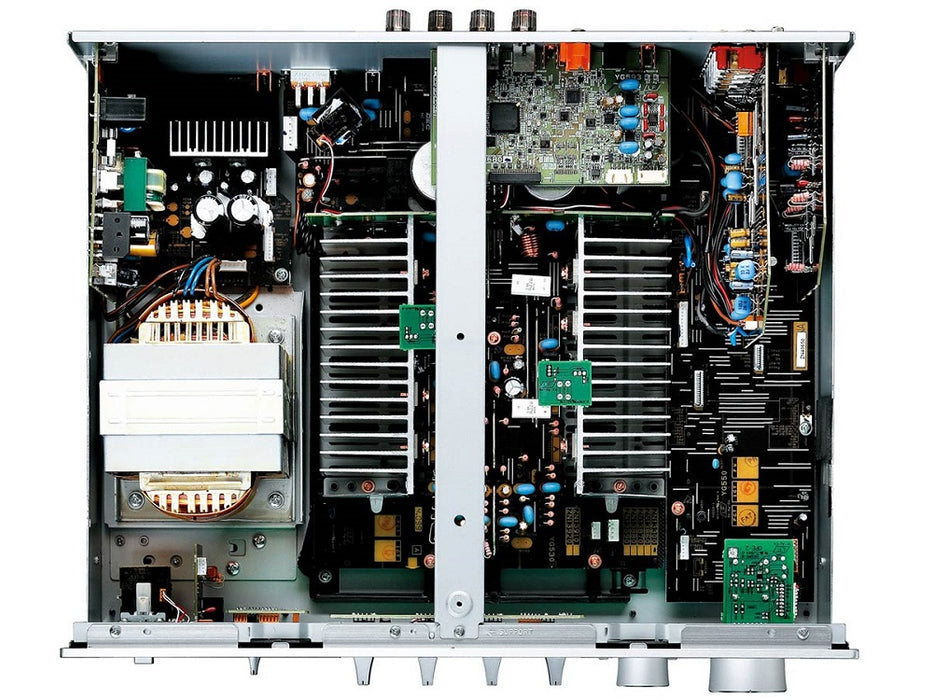 Yamaha A-S801S/2 ch integrated amplifier/silver/inside top view/SONXPLUS BAX audio video