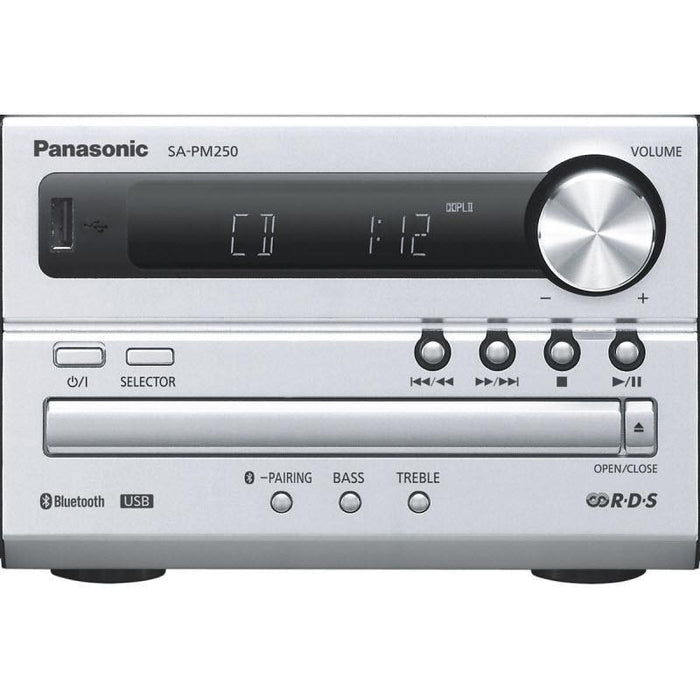 Panasonic SC-PM250 | Music system - Bluetooth - CD player - Fm radio - USB - 20 W - Silver