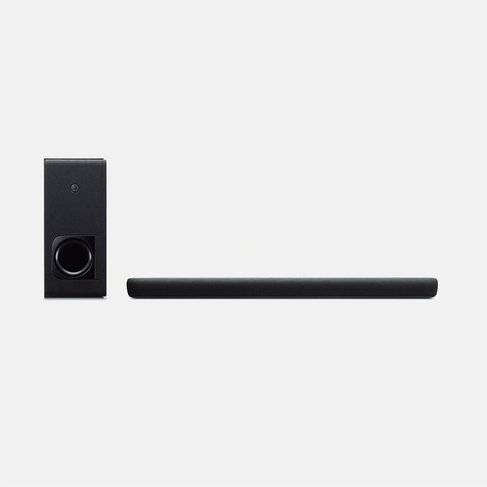 Yamaha YAS-209/2.1 ch sound bar/black/front view with subwoofer/SONXPLUS BAX audio video