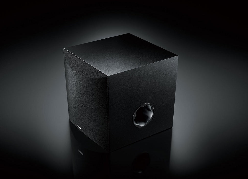 Yamaha NS-SW050B/Subwoofer/black/right diagonal side view/SONXPLUS BAX audio video
