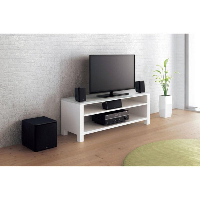 Yamaha YHT-1840B/5.1 Channel home theatre package/black/lifestyle view/SONXPLUS BAX audio video