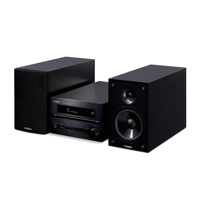 Yamaha MCR-B270/Hifi music system/black/right diagonal front view/SONXPLUS BAX audio video