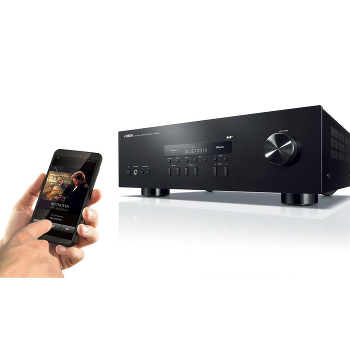 Yamaha RS-202/2 ch receiverr/black/lifestyle view/SONXPLUS BAX audio video