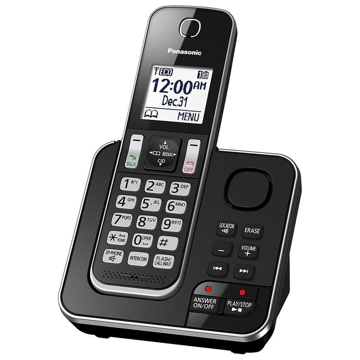 Panasonic KX-TGD392B | Cordless phone - 2 handsets - Recorder - Black