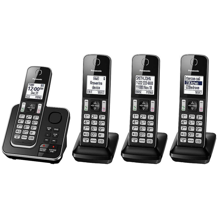 Panasonic KX-TGD394B | 3 Digital cordless handsets - Recorder - Black