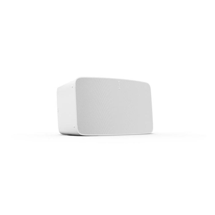 Sonos Five/Smart wireless speaker/white/left diagonal front view/SONXPLUS BAX audio video