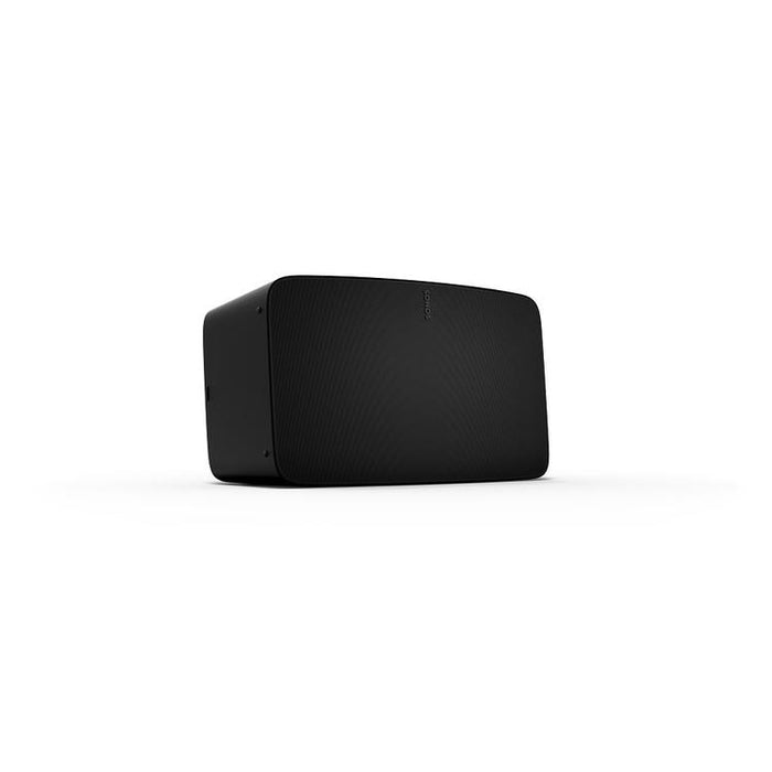 Sonos Five/Smart wireless speaker/black/left diagonal front view/SONXPLUS BAX audio video