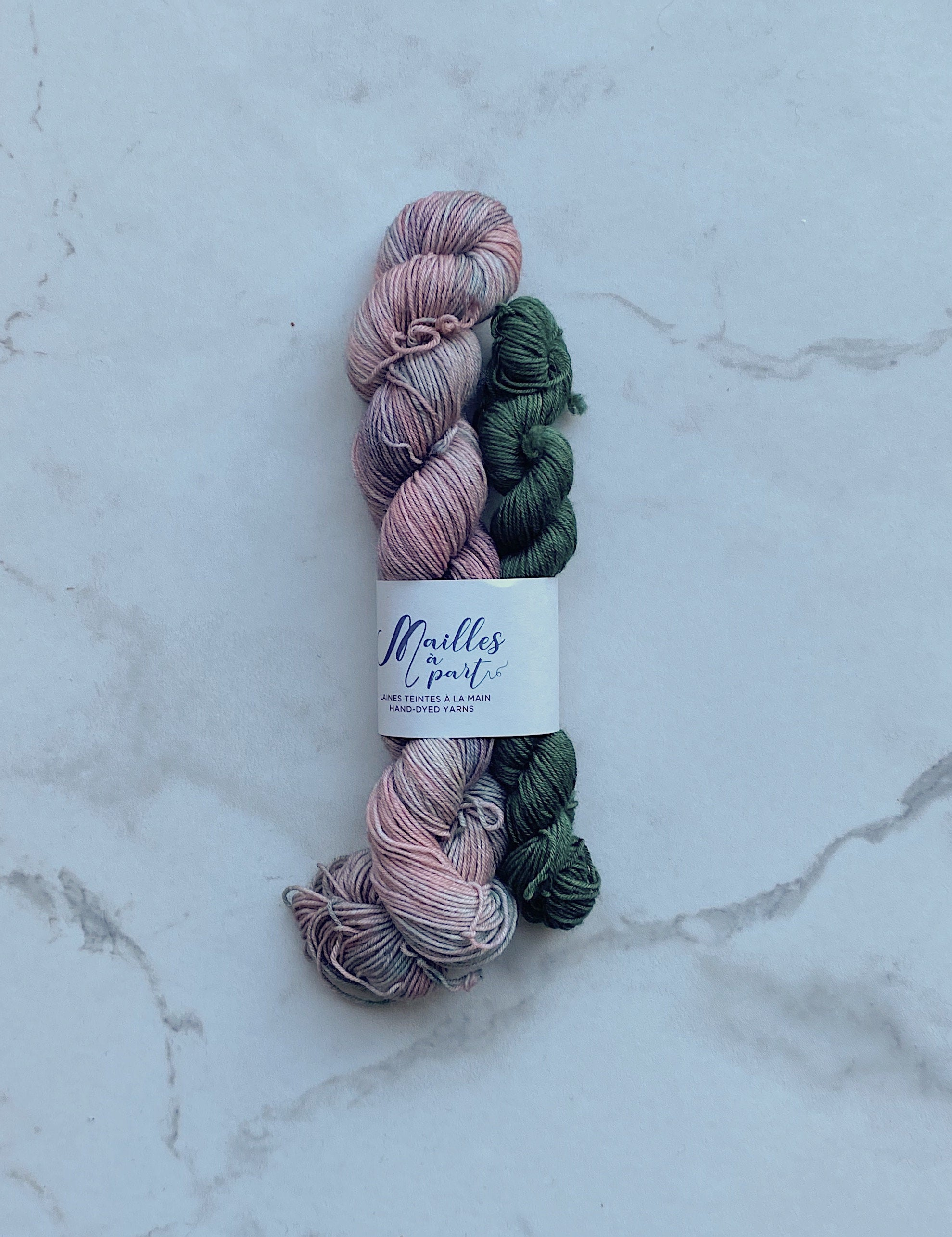 Merino Steel Sock Set – Punch aux melons/Forêt
