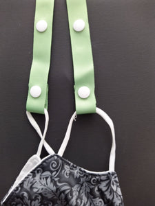 Mint Green Adjustable Ribbon Mask Holder  Children and Adults