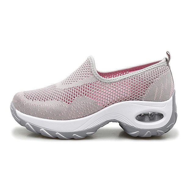 Women Fly Woven Slip-on Air Cushion Casual Walking Socks Shoes