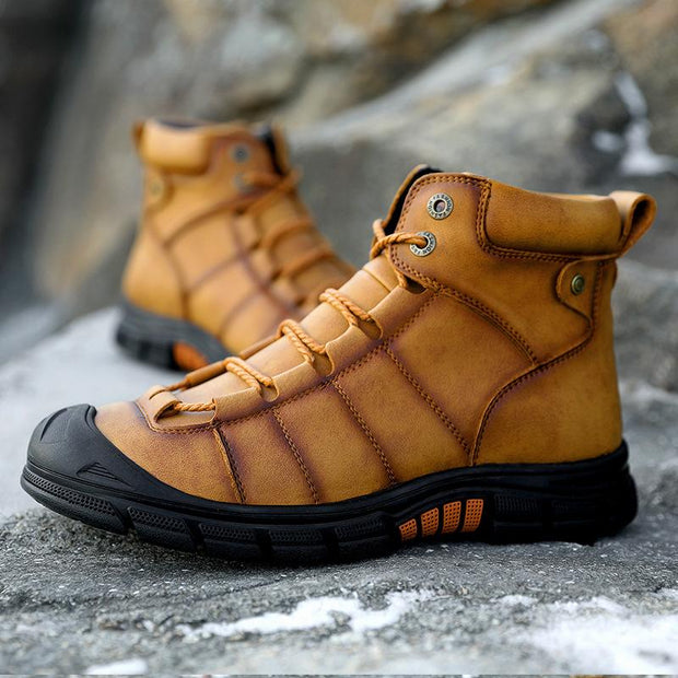 Large Size Men Casual Boots Outdoor High-top Off-road Hiking Shoes