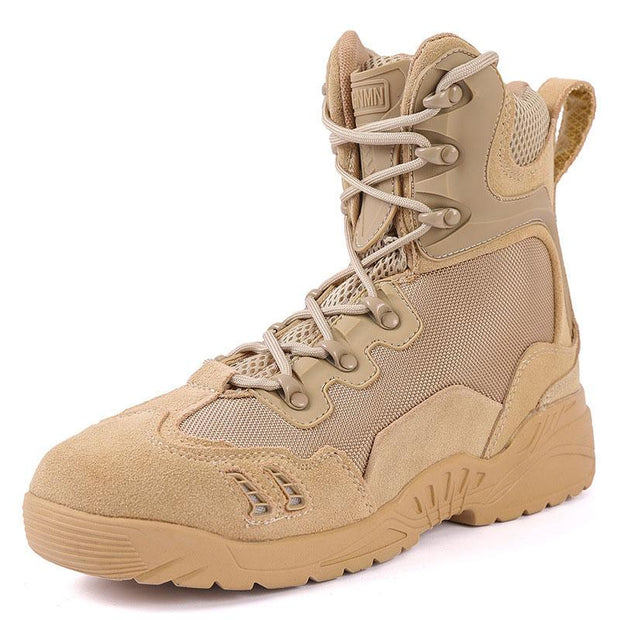 Men Military Boots Desert Combat Leather Army Camouflage Trekking Sports Shoes