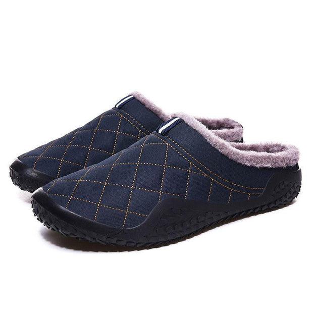 Men's Waterproof Non-slip Plus Velvet Warm Slippers