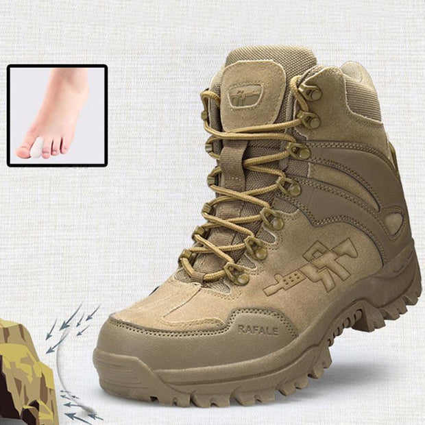 Outdoor Hiking Shoes Men Breathable Non-Slip Tactical Tooling Military Boots