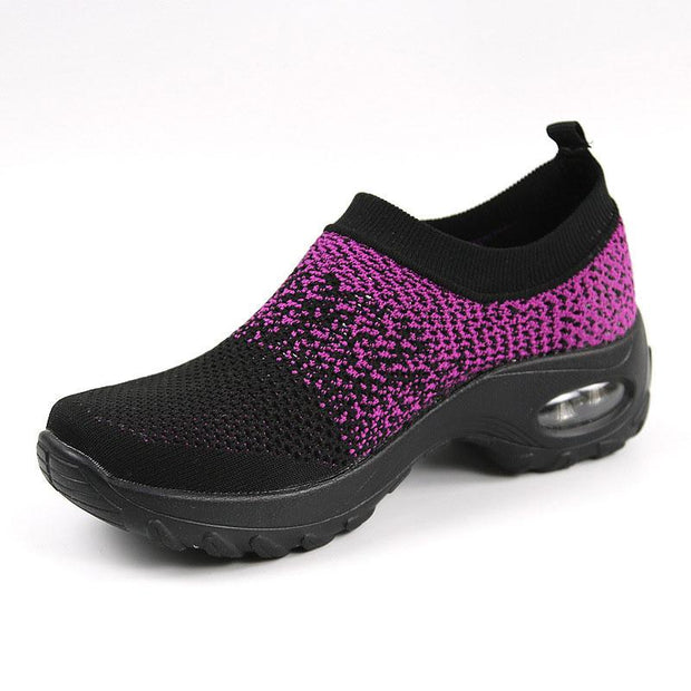 Women's Flying Woven Casual Air Cushion Sneakers