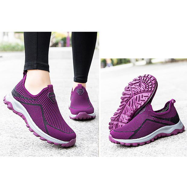 Women Fly Woven Slip-on Lightweight Walking Shoes