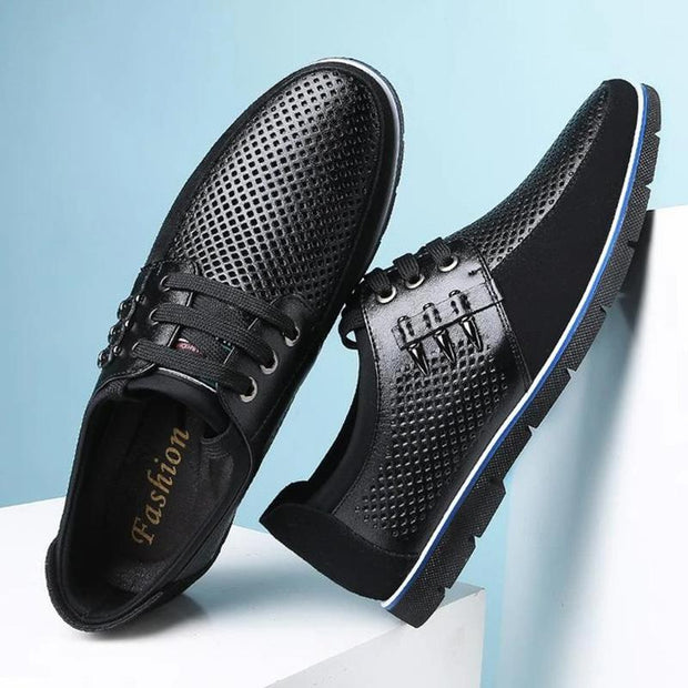 Men's Casual Genuine Breathable Leather Shoes