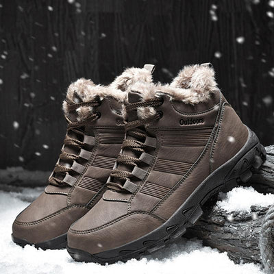 Men Winter Warm Lace Non-slip Waterproof Snow Boots