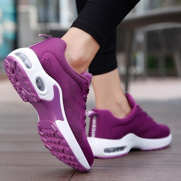 Women Casual Lightweight Air Cushion Sneakers Breathable Outdoor Running Tennis Sport Shoes