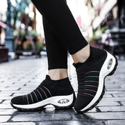 Women's Flying Woven Casual Breathable Sneakers