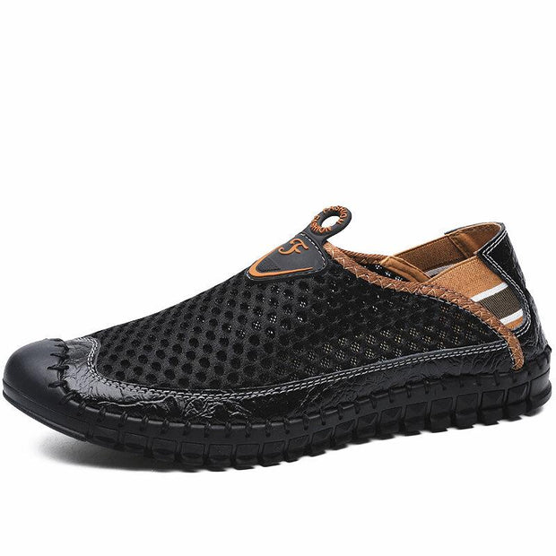 Large Size Men Hand Stitching Mesh Water Shoes Outdoor Slip Resistant Sneakers