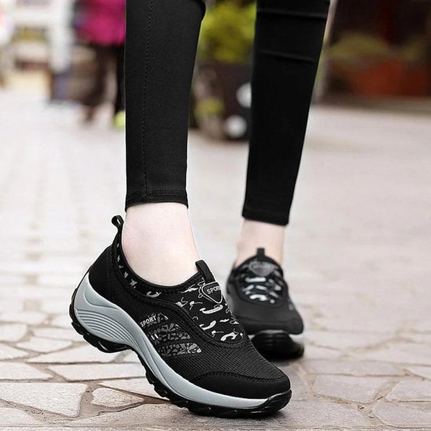 Women's Casual Large Size Lightweight Platform Sneakers