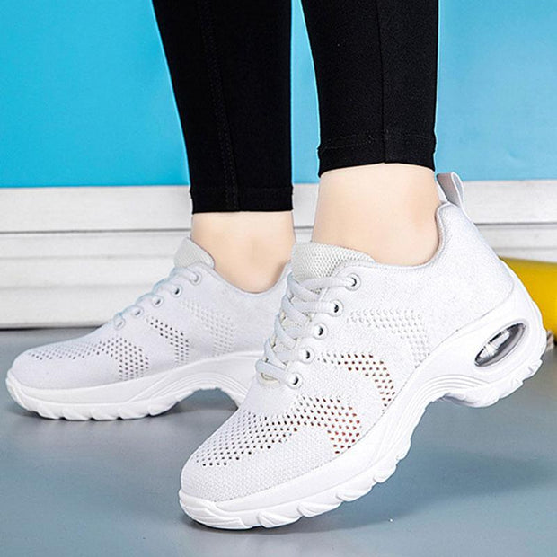 Women Ladies Breathable Anti-skid Walking Dance Sports Shoes