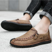 Men Casual Comfortable Handmade Zipper Shoes