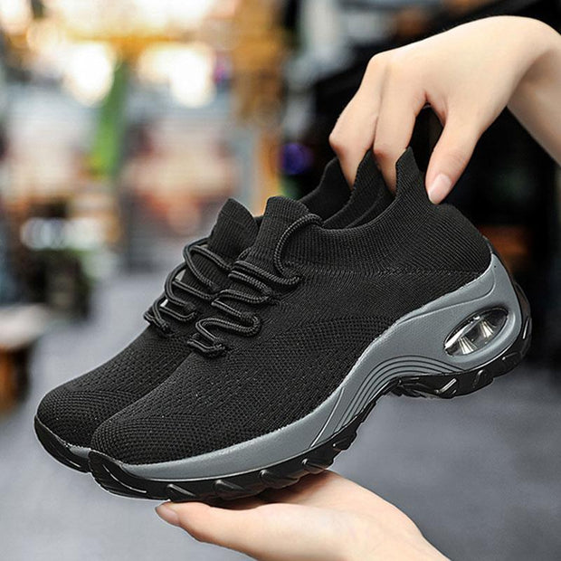 Women's Flying Woven Platform Height Increase Casual Shoes