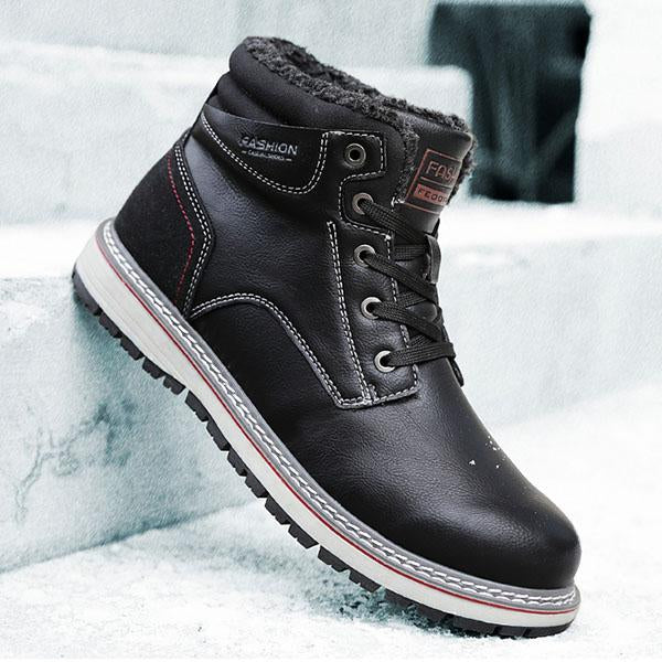 Men's Waterproof Warm Plush Non-slip Snow Boots