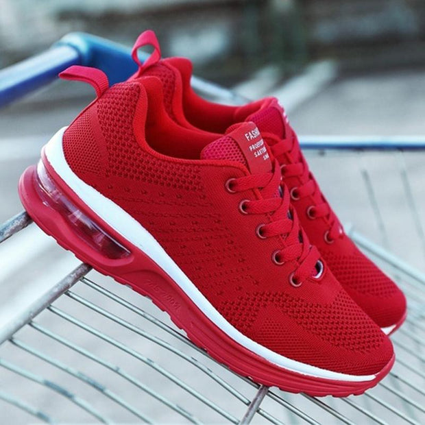 Air Cushion Sports Running Comfortable Breathable Mesh Flying Woven Shoes