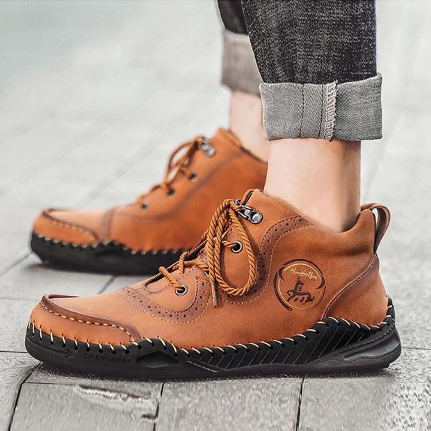 Men's Hand-Sewn Outdoor Casual Short Boots