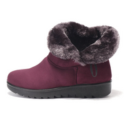 Buckle Comfortable Keep Warm Soft Ankle Snow Boots For Women