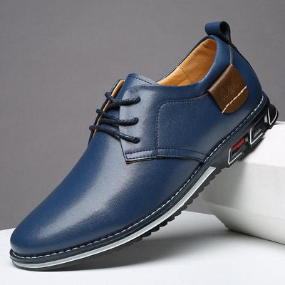 Men Casual Pure Color Microfiber Leather Non Slip Driving Shoes