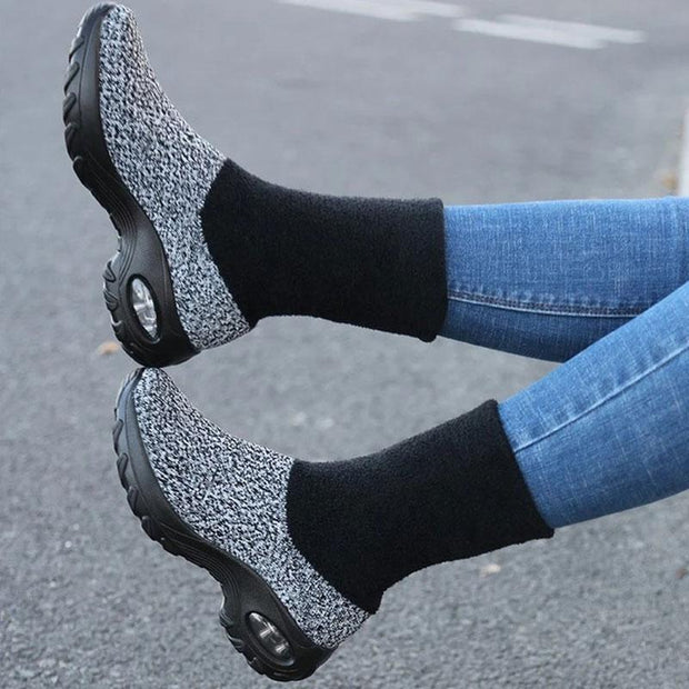 Women's Thermal Non Slip Wide Sock Shoes