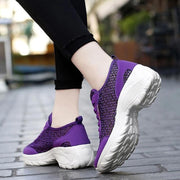 Women's Summer Breathable Lightweight Elastic Non-slip Running  Sneakers