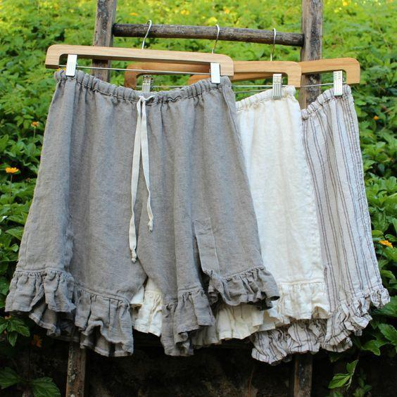 Women's Linen Folds Bottoms