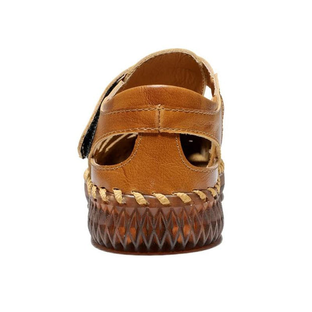 Men's Outdoor Daily Summer Hand-sewn Soft Leather Casual Sandals