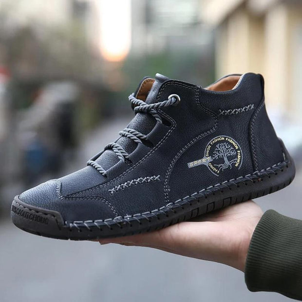 Men Vintage Hand Stitching Comfort Soft Leather Boots