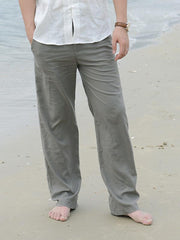 Men's Loose Casual Cotton Linen Trousers