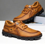 Men Hand Stitching Comfort Soft Leather Casual Shoes