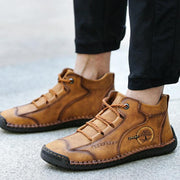 Man Retro Handmade Leather Boots
