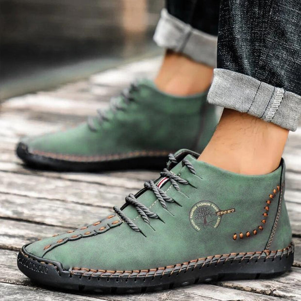 Men Trend Wear-resistant Leather Shoes