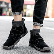 Men Casual Handmade Suede Soft Socks Boots