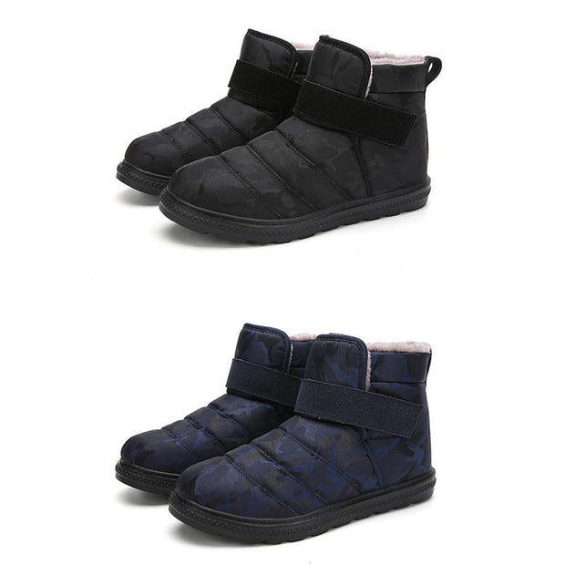 Men Winter Snow Boots Short Plush Warm Shoes