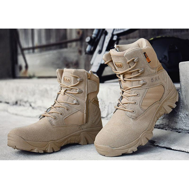 Male Quality Special Forces Tactical Desert Combat Ankle Boots Military Shoes
