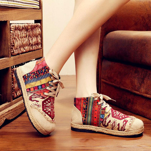 Women's Cotton And Linen Ethnic Style Non-Slip Short Boots