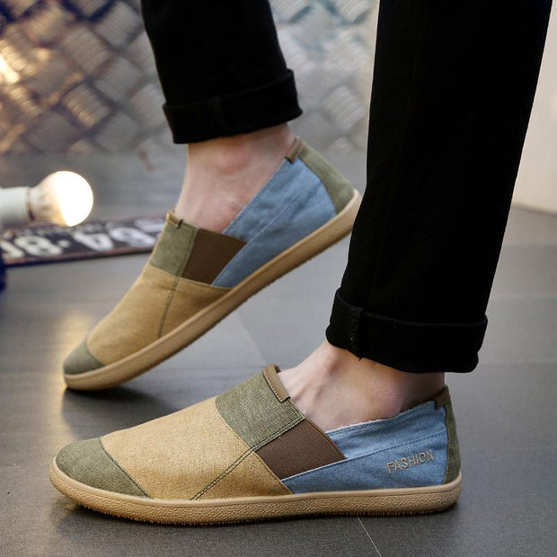 Men Outdoor Vintage Fisherman Shoes Lightweight Canvas Flats