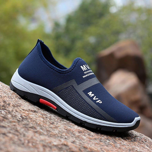 Men Lightweight Casual Walking Shoes Breathable Slip on Loafers